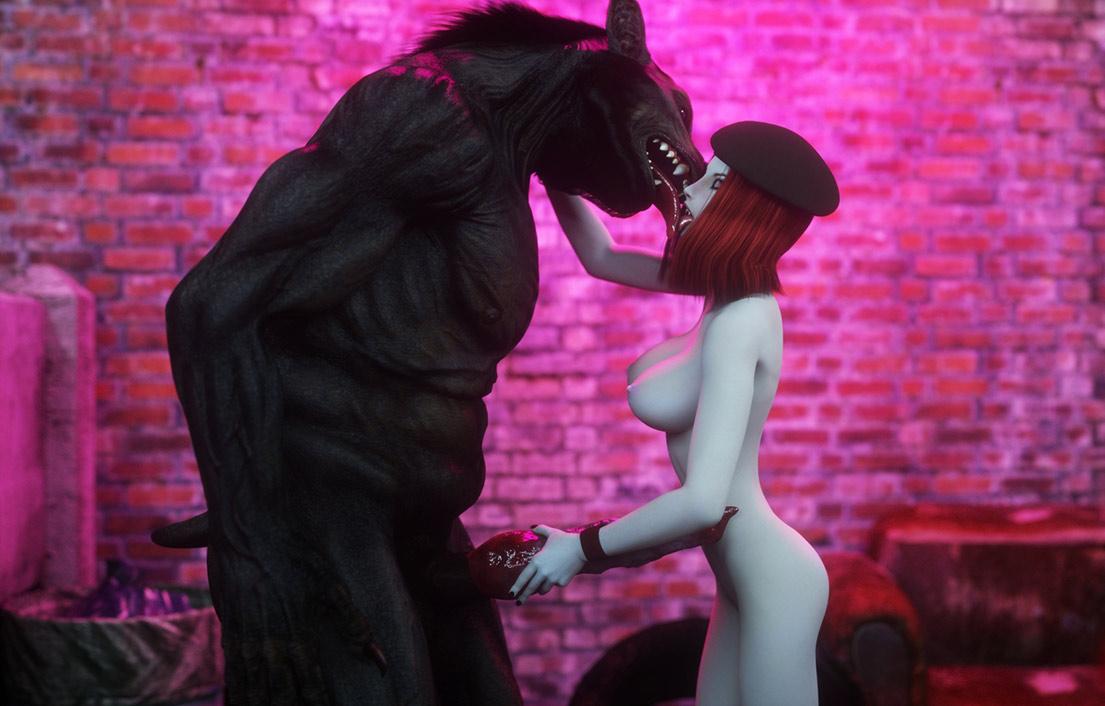 Werewolf with big dick - Damsel by Vaesark