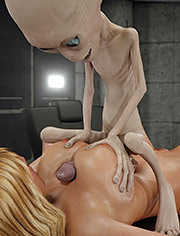 Alien Attack – See the cum drip out of my pussy