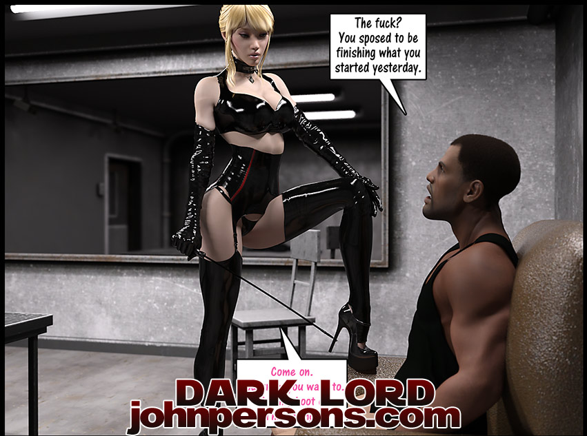 Kiss my boot or I'm leaving - Christian knockers by Dark Lord