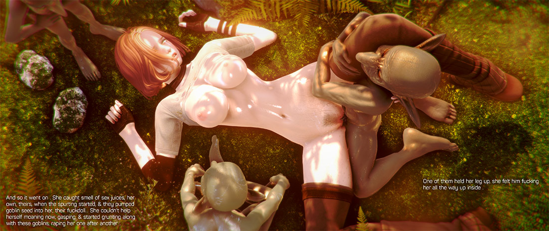 A painfull feeling goes through her body, through her mind - The ultimate goblin 3 Gangbang by Oreo