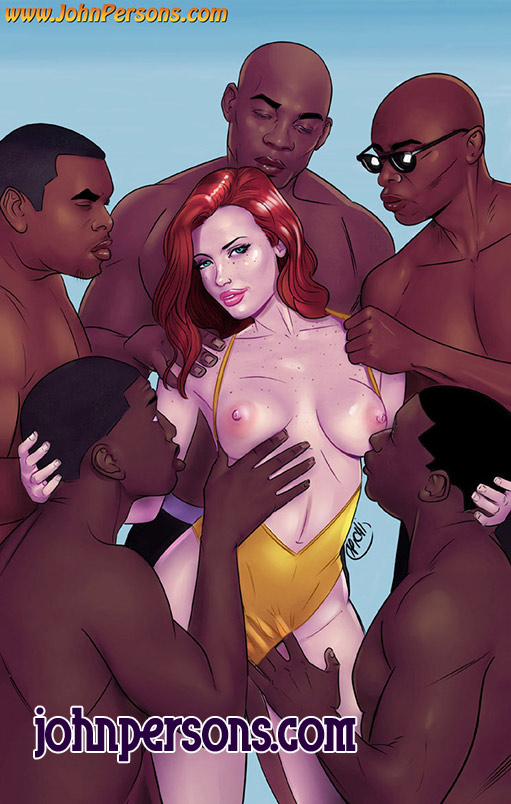 Many bbc for all holes - Gangbang interracial by Michi