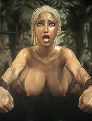 Elf slave 7 Double trouble – A huge hole in a pretty captive