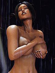 After shower – Deep penetration of naked bodies