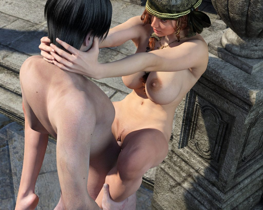 The museum is not a place for sex, but if you really want to... - Shrine by Ramza3D