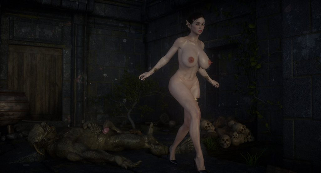 Elf takes every inch of monster cock in dungeon - Elf slave 8 The final by Jared999d