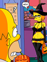 The Simptoons – Halloween night – We'll get more candy with these costumes