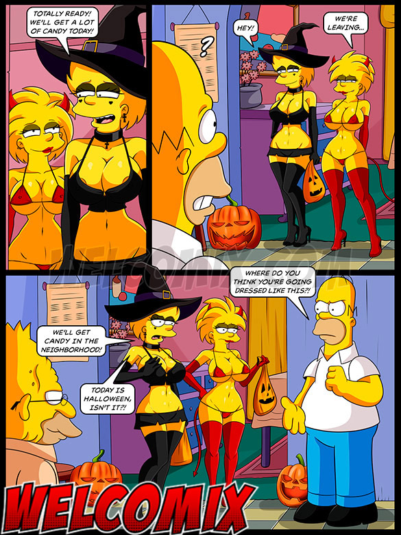 We'll get more candy with these costumes - The Simptoons - Halloween night by welcomix (tufos)
