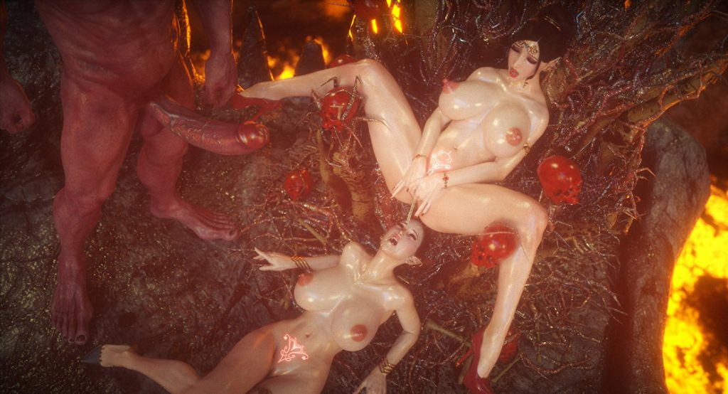 Lesbian forest elfs enjoying straight and lesbian sex - Elf slave 8 The final by Jared999d