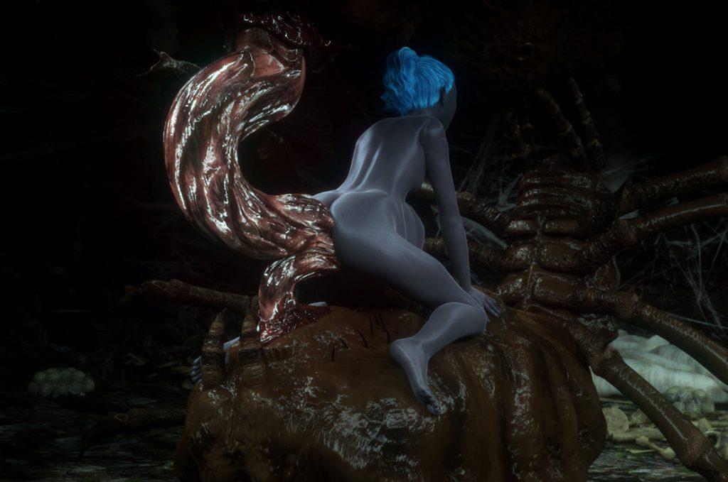 Tentacle evil creature - Shi'nvyrae by Vaesark