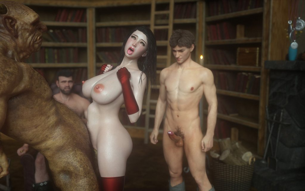The troll's cock is so big that it makes anal passage tight - Fallen lady 4 by Jared999d