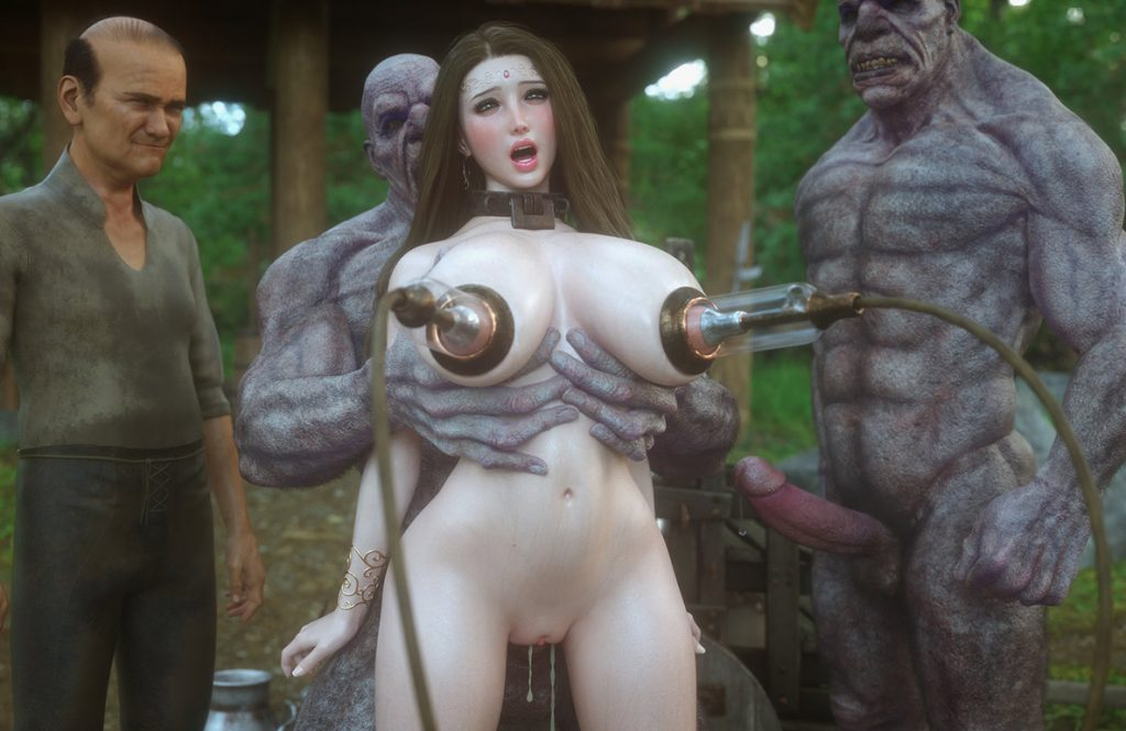 If you can hold 3 cucumbers in your pussy and anus, give you a prize - Fallen lady 4 by Jared999d