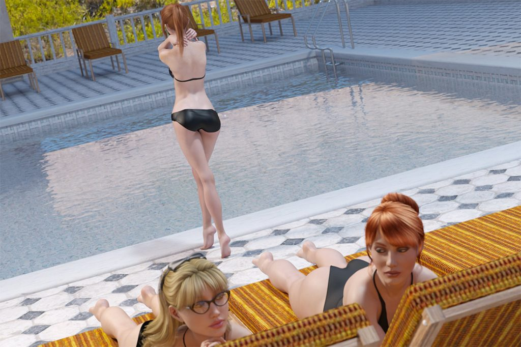 What the HELL are they doing to him?! - 3 girls pool by Dark Lord
